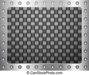 Carbono y marco de metal