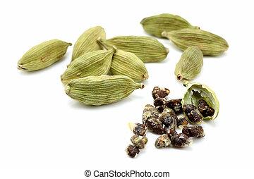 Cardamon con semillas de cardamon