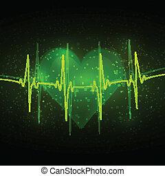 Cardiograma abstracto