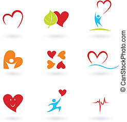 Cardiología y iconos cardíacos