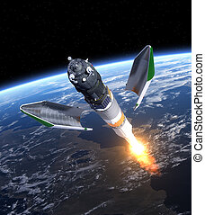 """carga, nave espacial, lanzamiento, """"progress"""""""