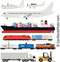 Carga y transporte de entrega