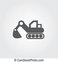 cargador, vector, iconos