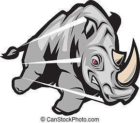 Cargando rinocerontes