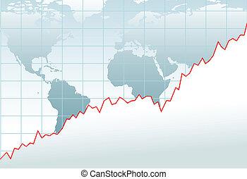 Carguen el mapa de crecimiento económico global