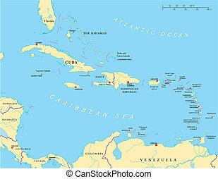 Caribe, un antill más grande y menor