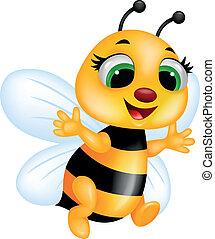 caricatura, abeja
