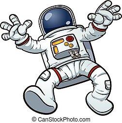 caricatura, astronauta