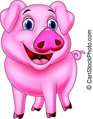 caricatura, cerdo, carácter
