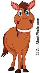 Caricatura de caballos feliz