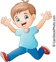 Caricatura de chico feliz