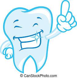 Caricatura de dientes felices