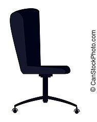 Caricatura de icono de silla ergonómica