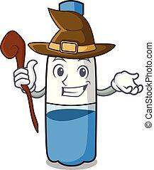Caricatura de mascota de la botella de agua