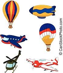 Caricatura de transporte aéreo