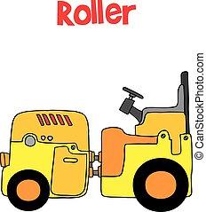 Caricatura de transporte de ruedas de arte vector