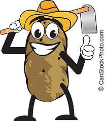 Caricatura del hombre de las patatas