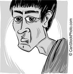 Caricatura del hombre