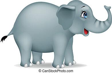 caricatura, elefante