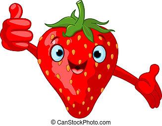 caricatura, fresa, alegre, charac