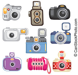 caricatura, icono, cámara