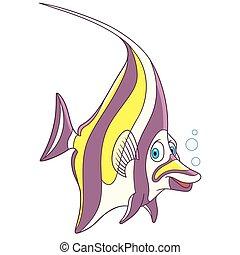 caricatura, idol moorish, pez