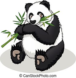 caricatura, panda, gigante