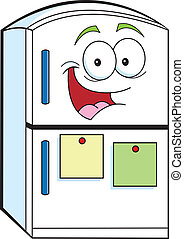 caricatura, refrigerador