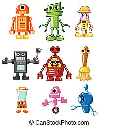 caricatura, robot