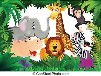caricatura, safari