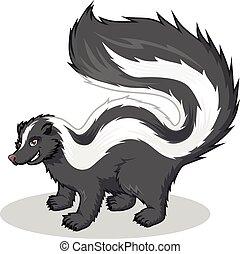 caricatura, skunk rayado