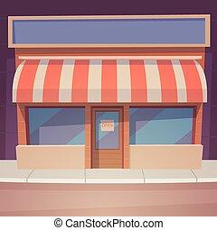 caricatura, tienda