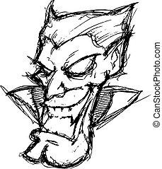 caricatura, vampiro
