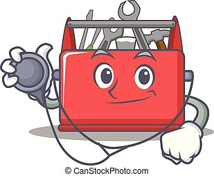 Caricaturas de dibujos del personaje de la caja de herramientas