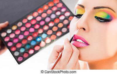 Carmín de maquillaje