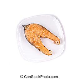 Carne asada crujiente de salmón