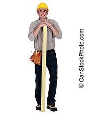 Carpenter tenía una tabla de madera