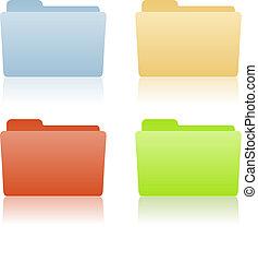 carpeta, archivo, lugar, etiqueta