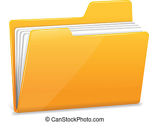 carpeta, documentos, amarillo, archivo
