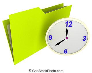 carpeta, horario
