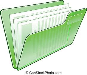 carpeta, icono de la computadora