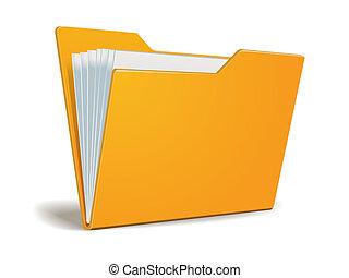 carpeta, vector, documentos