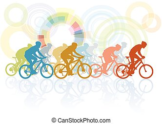 carrera, bicicleta
