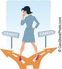 carrera, escoger, familia , entre