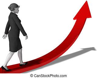 carrera, planificación, mujeres
