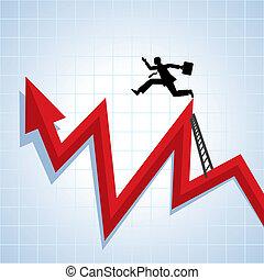 carrera, progreso, crecimiento, ve, empresa / negocio