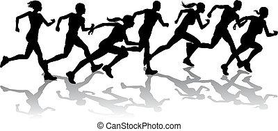 carreras, corredores