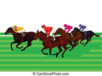 Carreras de caballos y derby