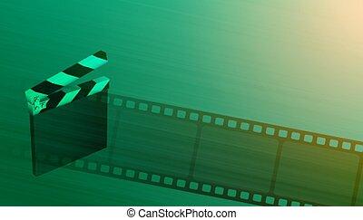 carrete, película de la película, tabla, plano de fondo, cine, badajo