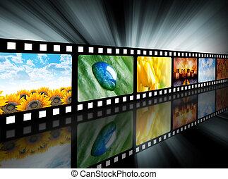 carrete película, película, entretenimiento